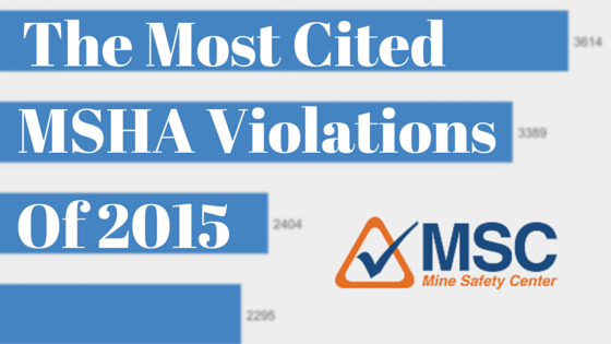 The Most Cited MSHA Standards of 2015