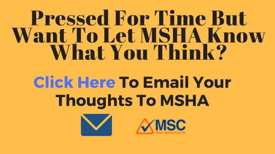 MSHA workplace exam rule comment button